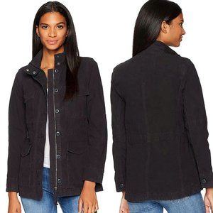 Lucky Brand Utility Cargo Washed Black Jacket